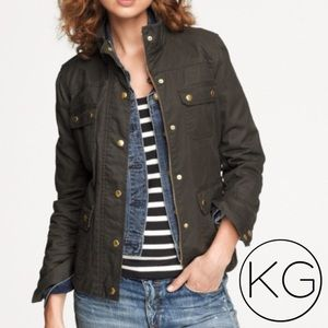 J. Crew coated field jacket